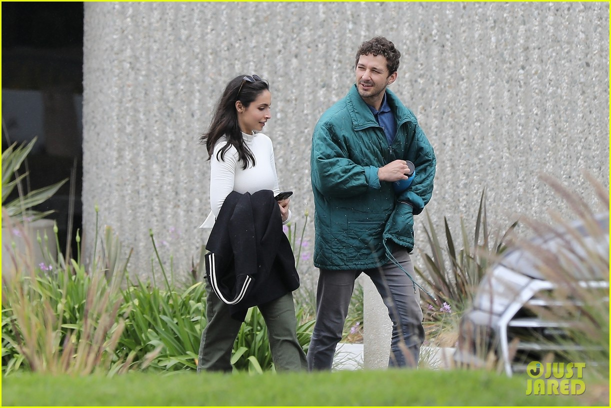 shia labeouf fka twigs on hold as he spends time with mystery brunette 044303539