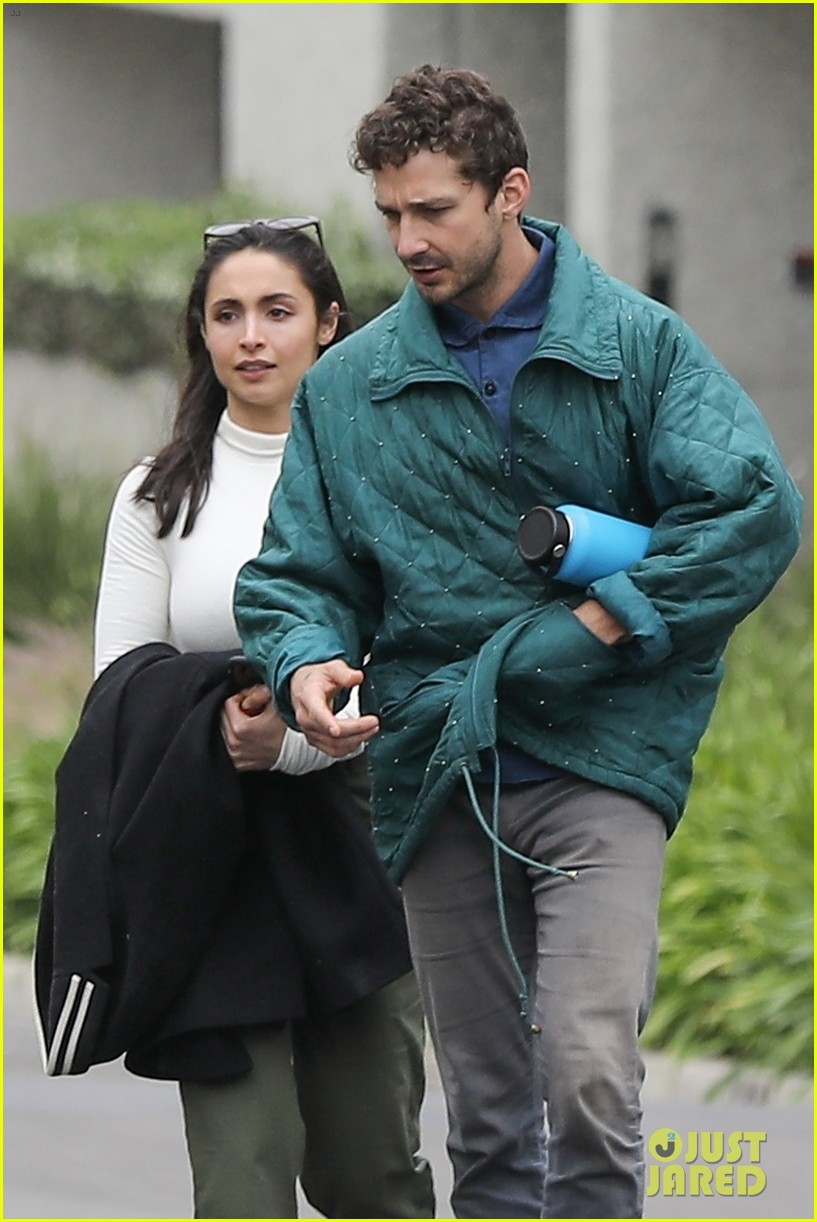 shia labeouf fka twigs on hold as he spends time with mystery brunette 054303540