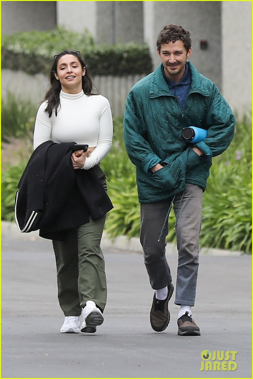 shia labeouf fka twigs on hold as he spends time with mystery brunette 064303541