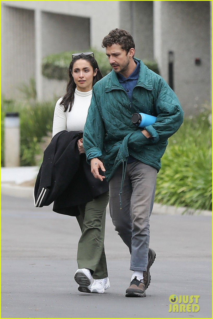 shia labeouf fka twigs on hold as he spends time with mystery brunette 074303542