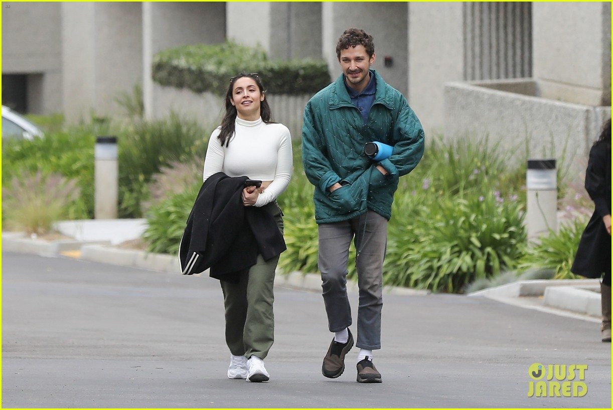shia labeouf fka twigs on hold as he spends time with mystery brunette 084303543