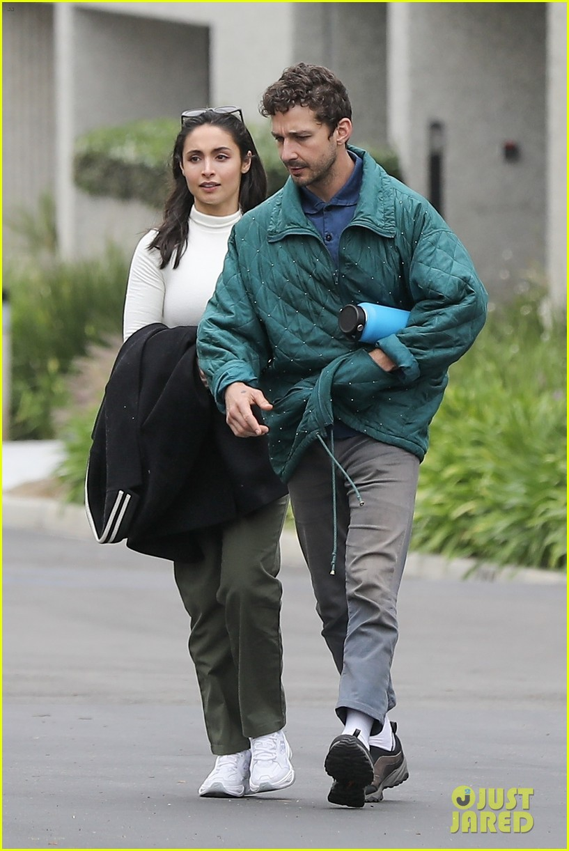 shia labeouf fka twigs on hold as he spends time with mystery brunette 094303544