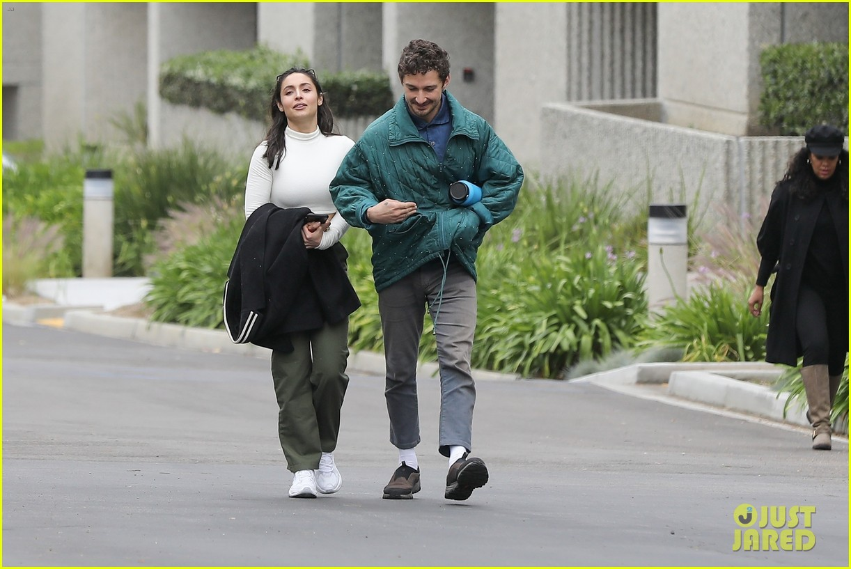 shia labeouf fka twigs on hold as he spends time with mystery brunette 104303545