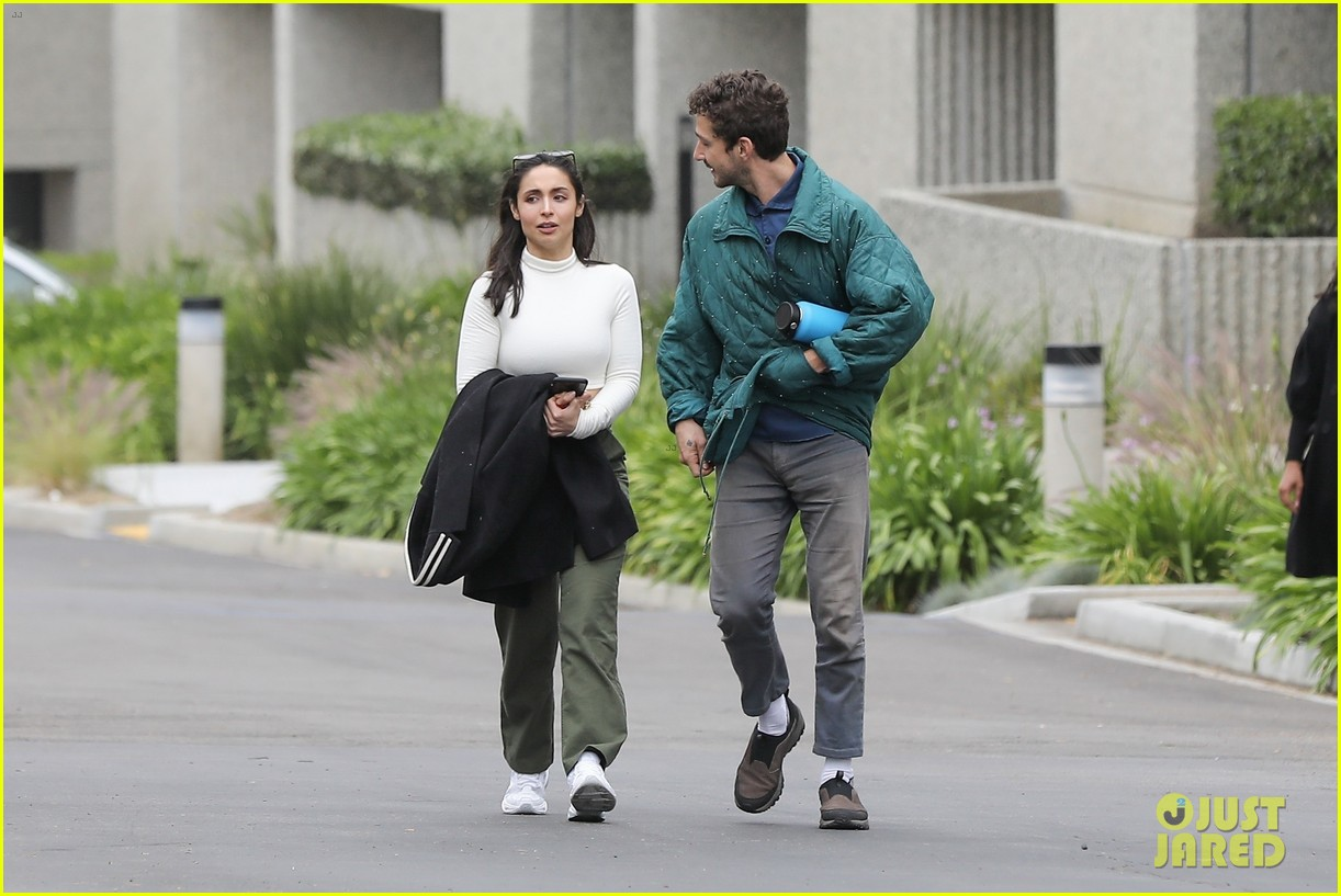 shia labeouf fka twigs on hold as he spends time with mystery brunette 124303547