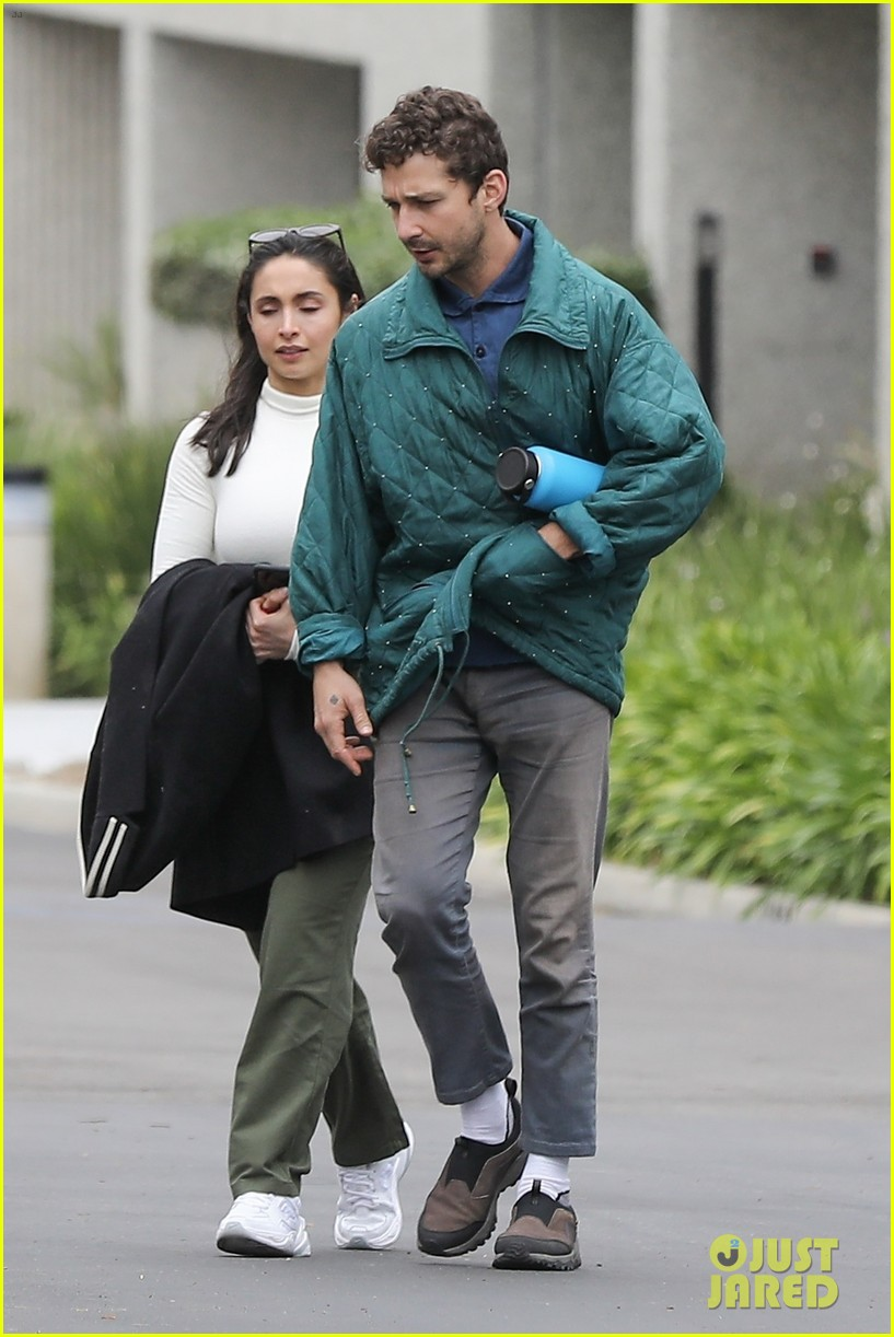 shia labeouf fka twigs on hold as he spends time with mystery brunette 134303548