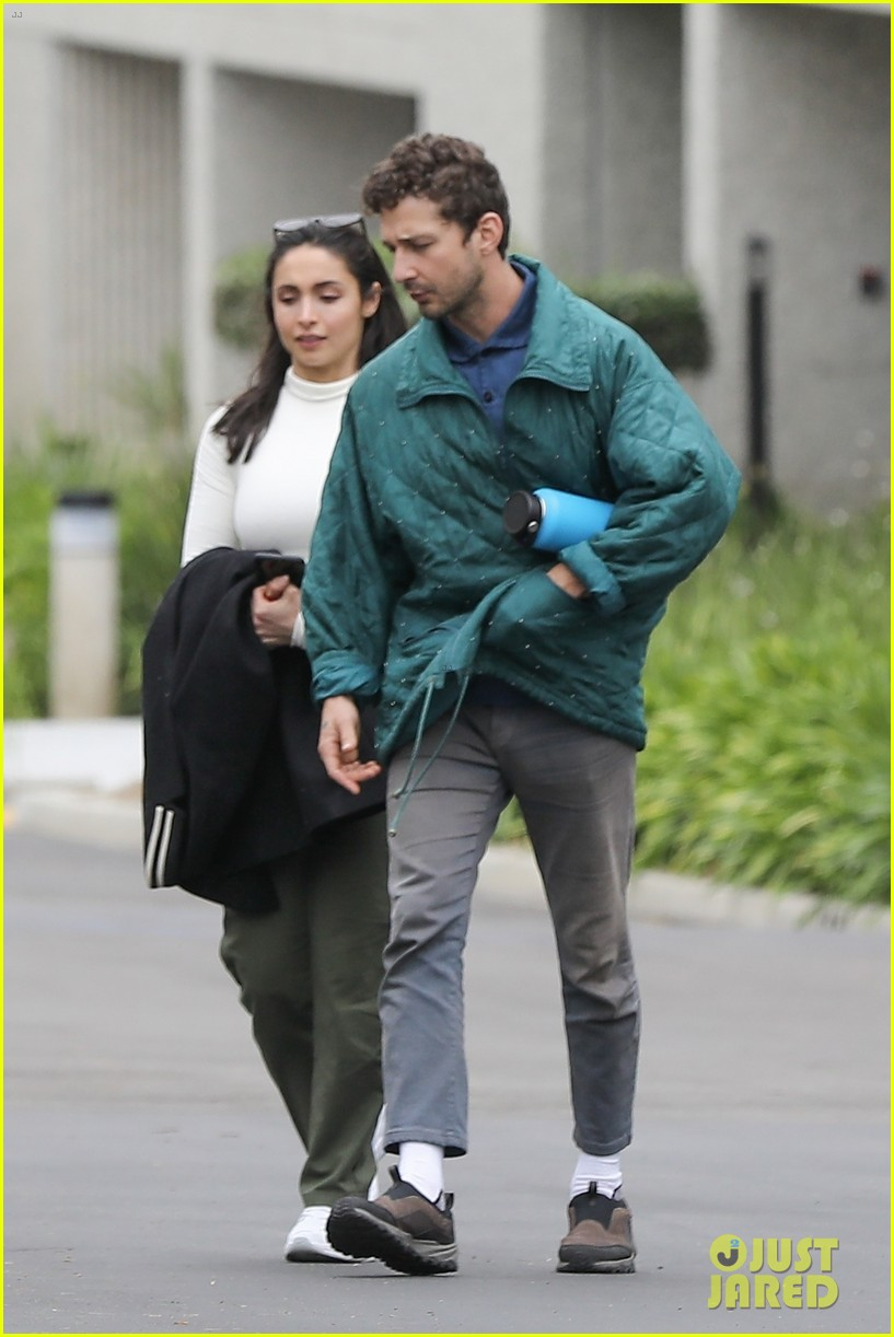shia labeouf fka twigs on hold as he spends time with mystery brunette 144303549