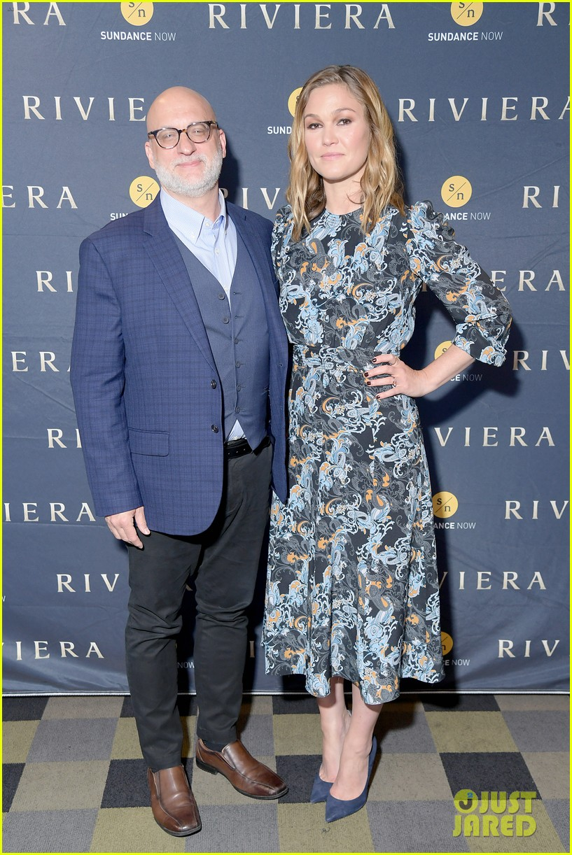 Julia Stiles Shows Off Three Styles While Promoting Riviera