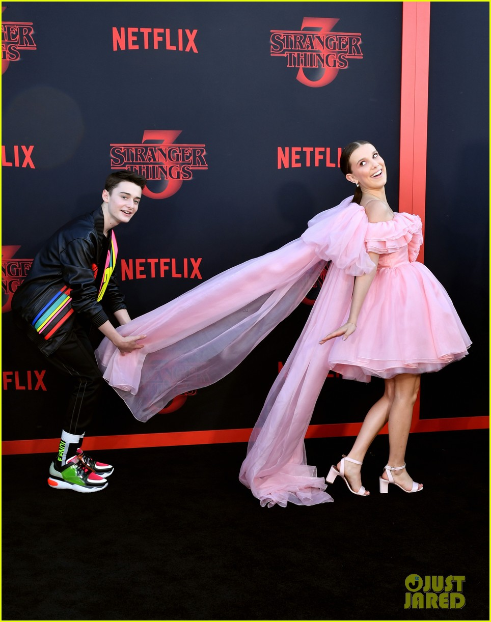 millie bobby brown finn wolfhard stranger things season three premiere 164315780
