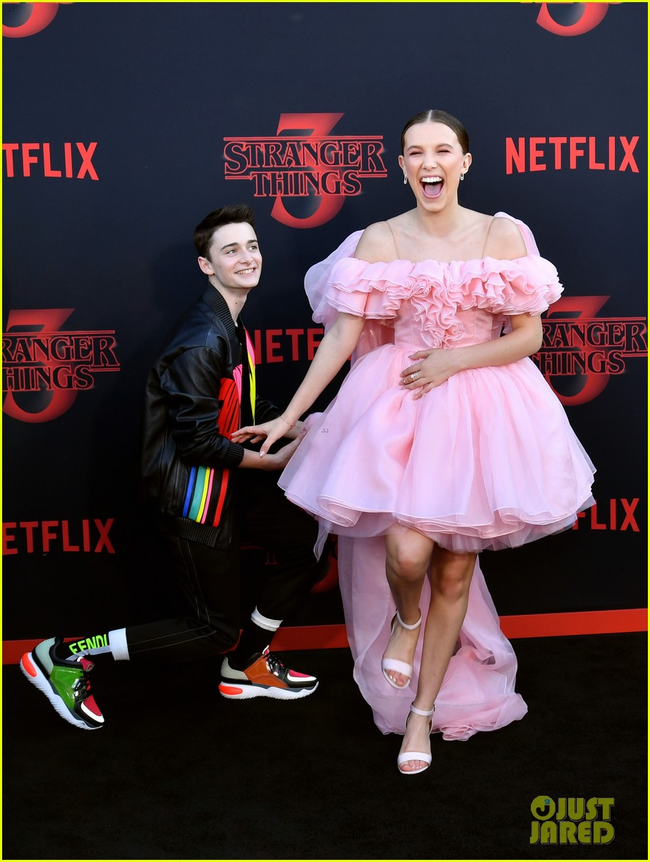 millie bobby brown finn wolfhard stranger things season three premiere 174315781
