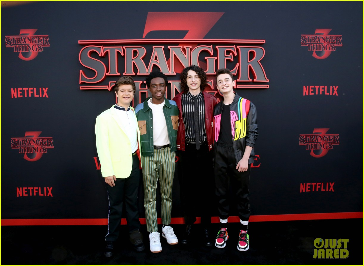 millie bobby brown finn wolfhard stranger things season three premiere 374315801