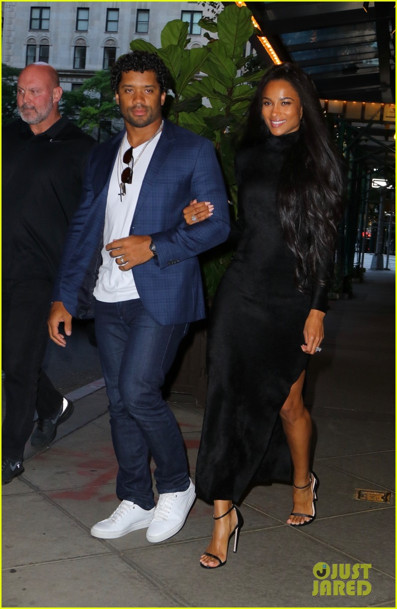 ciara russell wilson step out in style for dinner in nyc 01