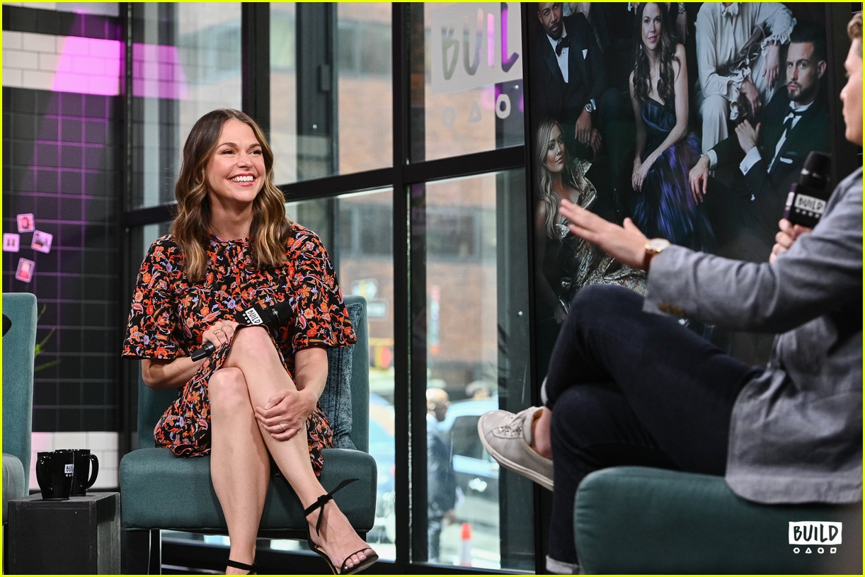 sutton foster younger cast at build series 344308947
