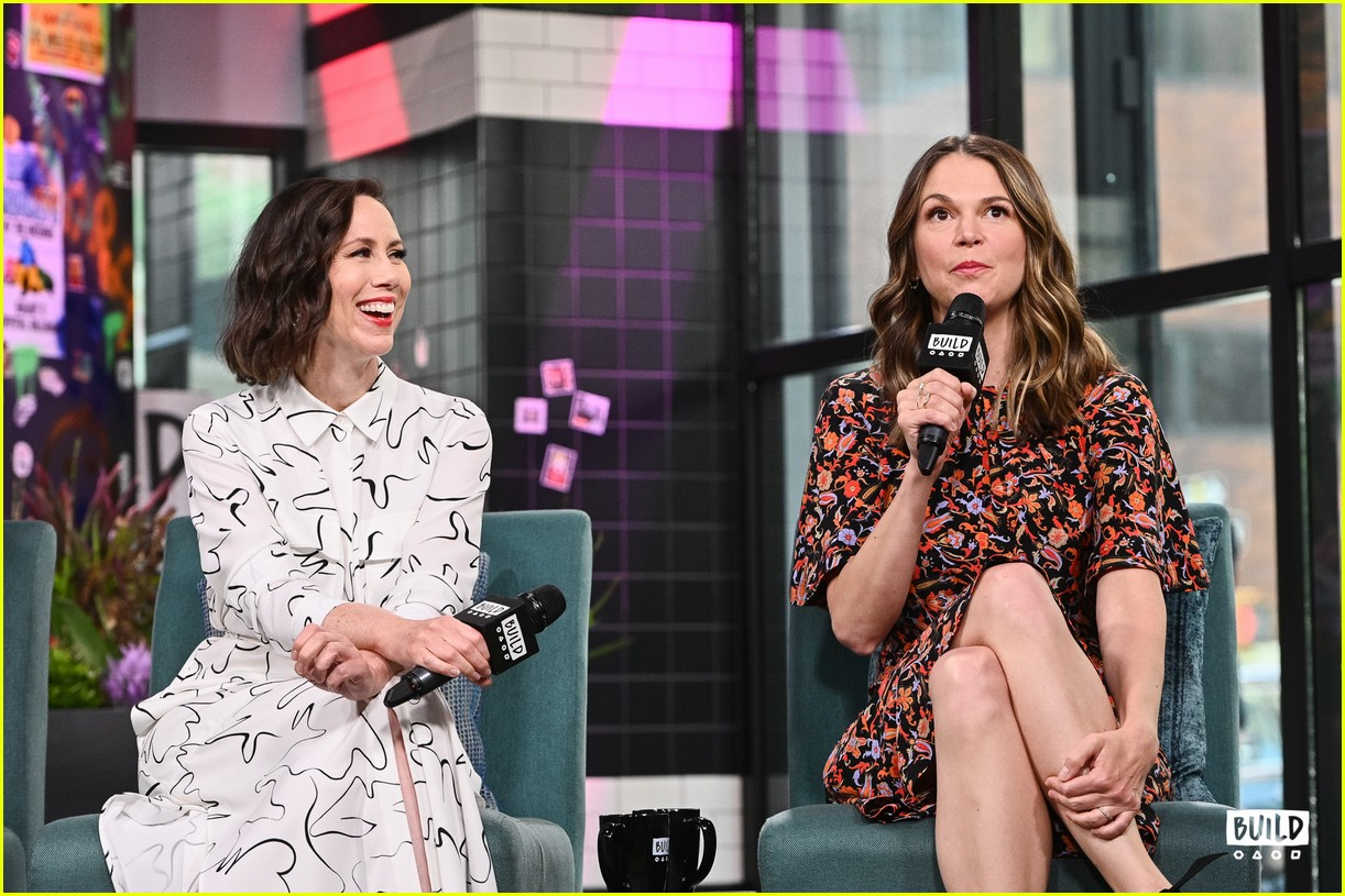 sutton foster younger cast at build series 364308949
