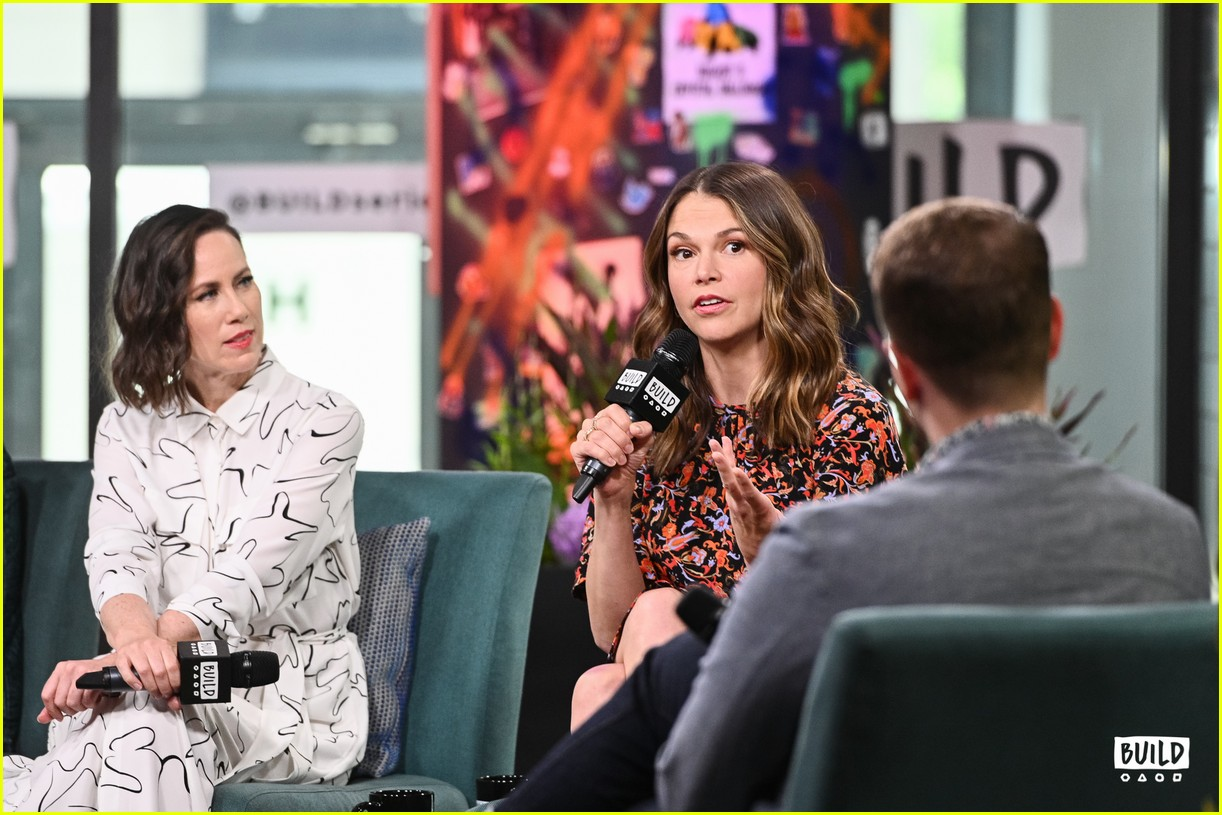 sutton foster younger cast at build series 444308957