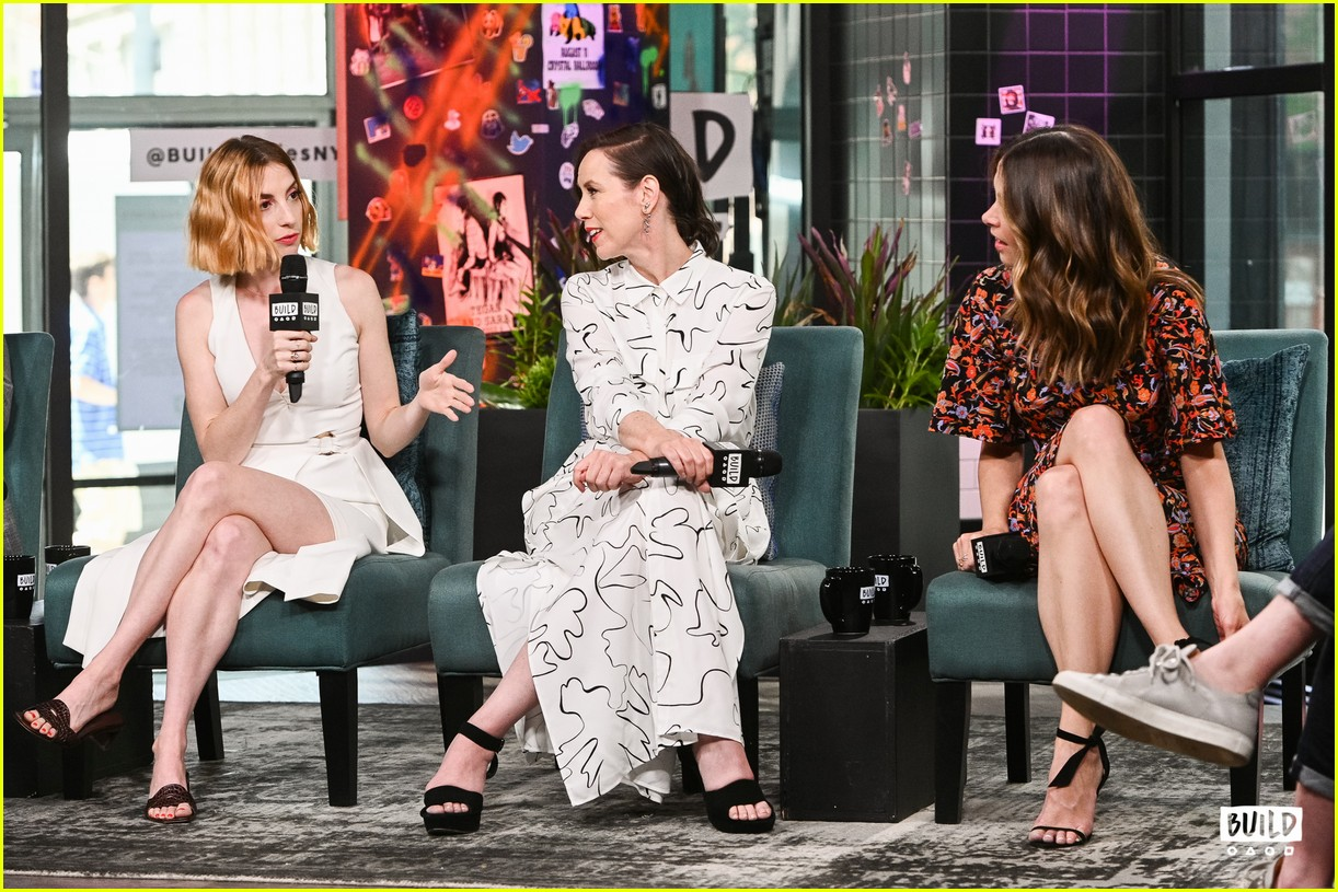 sutton foster younger cast at build series 484308961