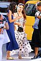 jessica alba stuns in black and white polka dot dress while out in nyc 01
