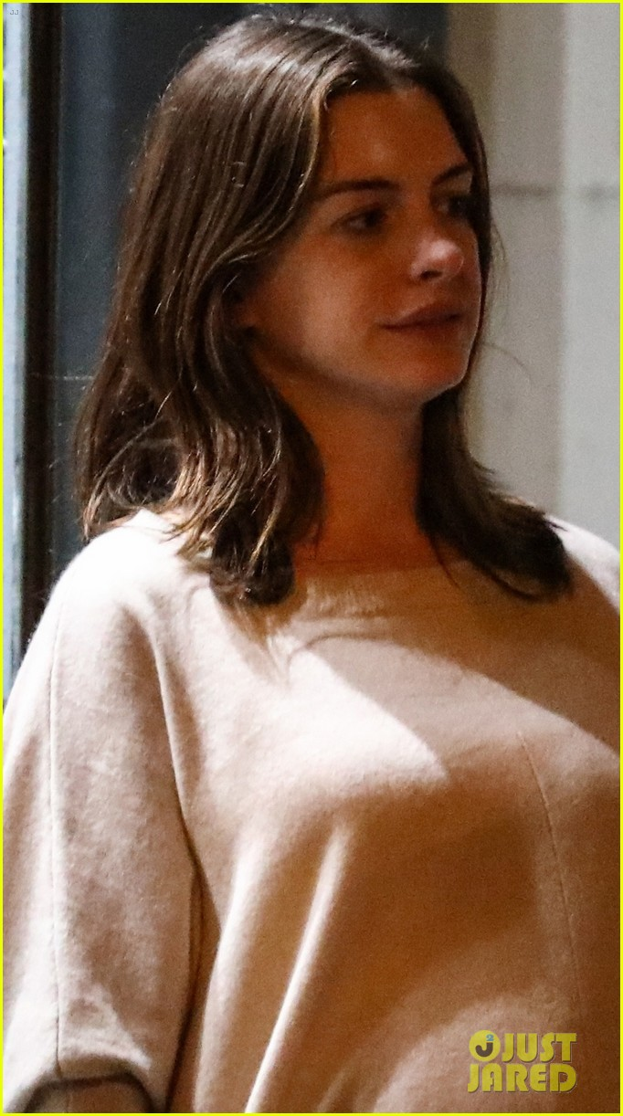 Pregnant Anne Hathaway & Husband Adam Shulman Enjoy a ...