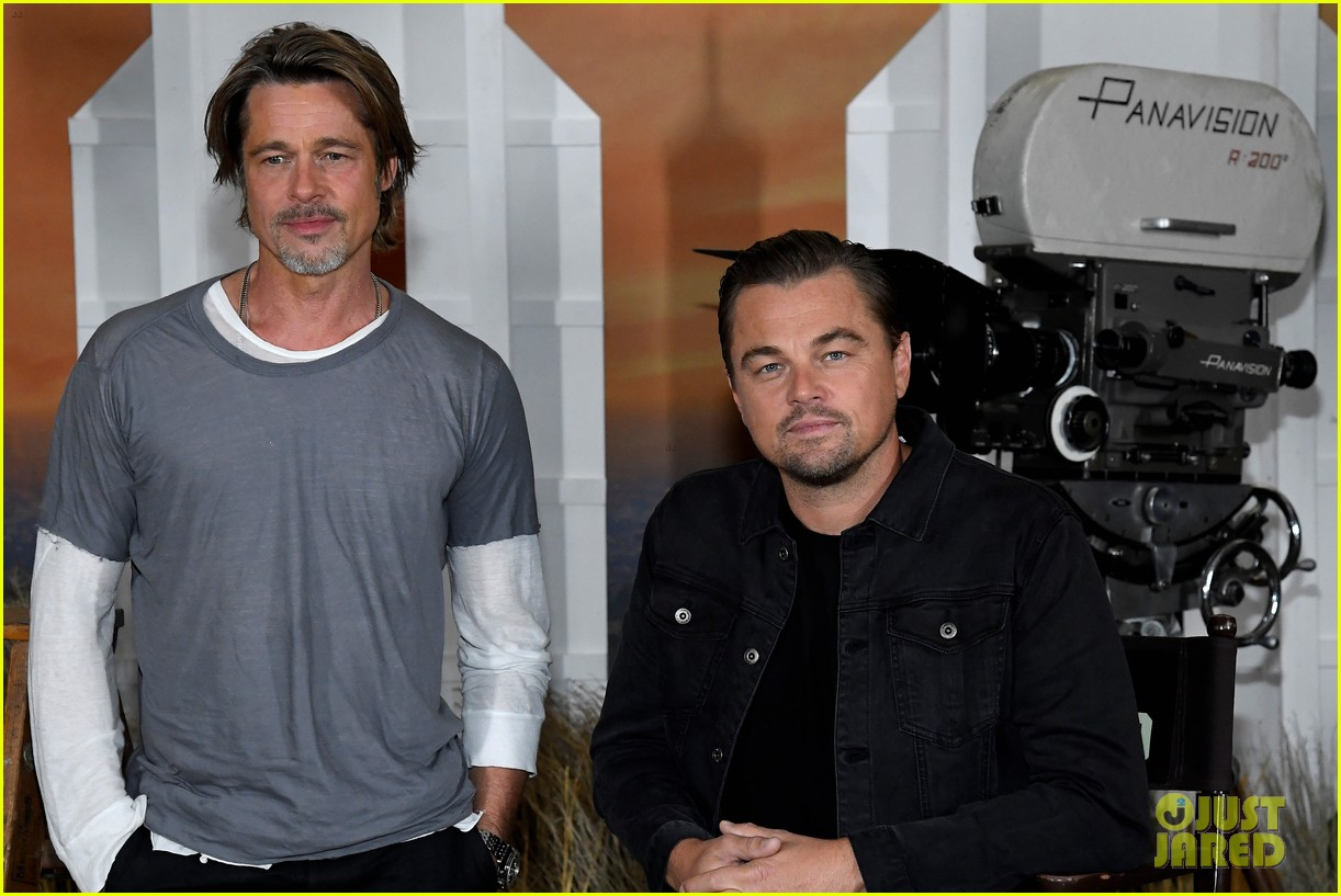 brad pitt margot robbie leonardo dicaprio hollywood photo call 044320766