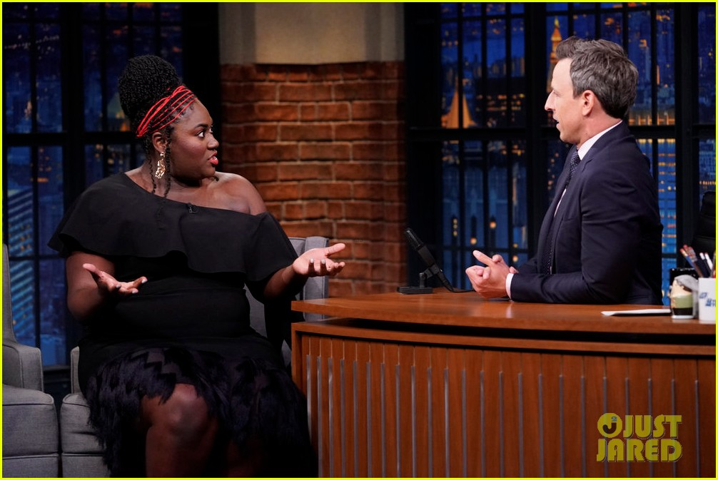 danielle brooks dishes on her first pregnancy on late night 014326796