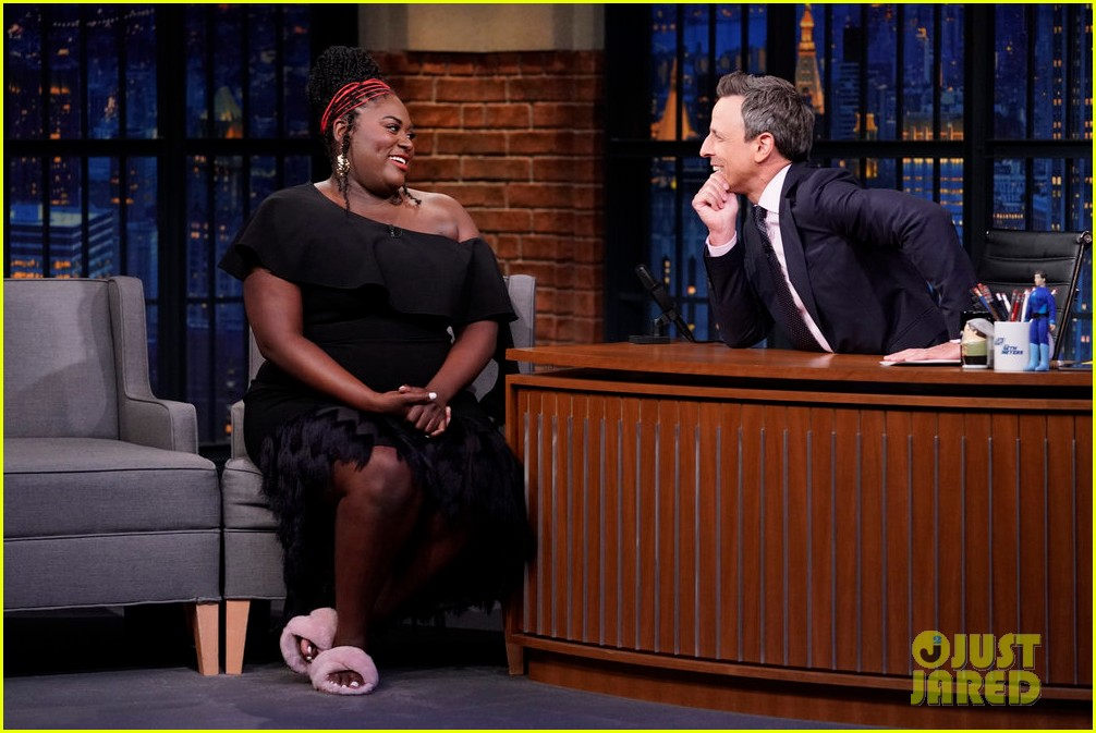 danielle brooks dishes on her first pregnancy on late night 024326797