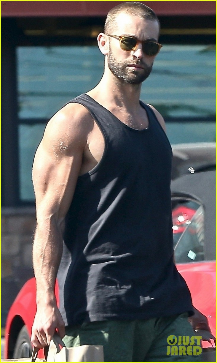 Chace Crawford Shows Off His Muscular Physique While