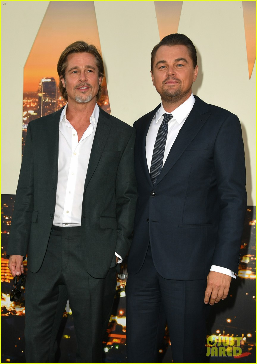 leonardo dicaprio brad pitt suit up once upon time hollywood premiere 06
