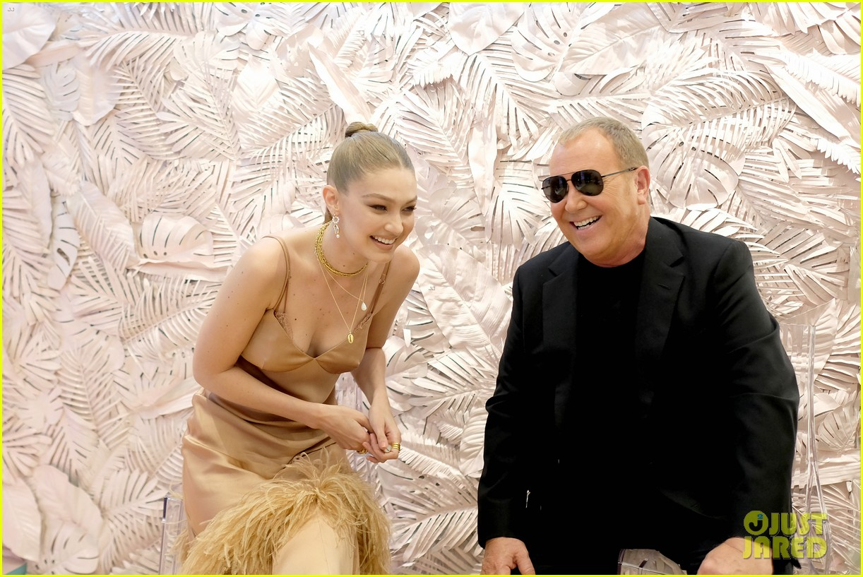 gigi hadid attends launch party michael kors wonderlust fragrance 074322626
