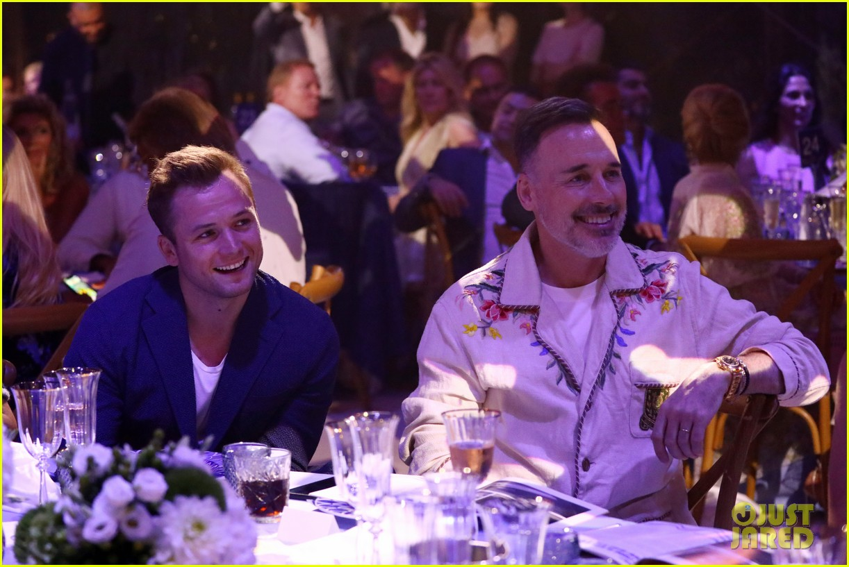 taron egerton emily thomas elton john midsummer party 194326399