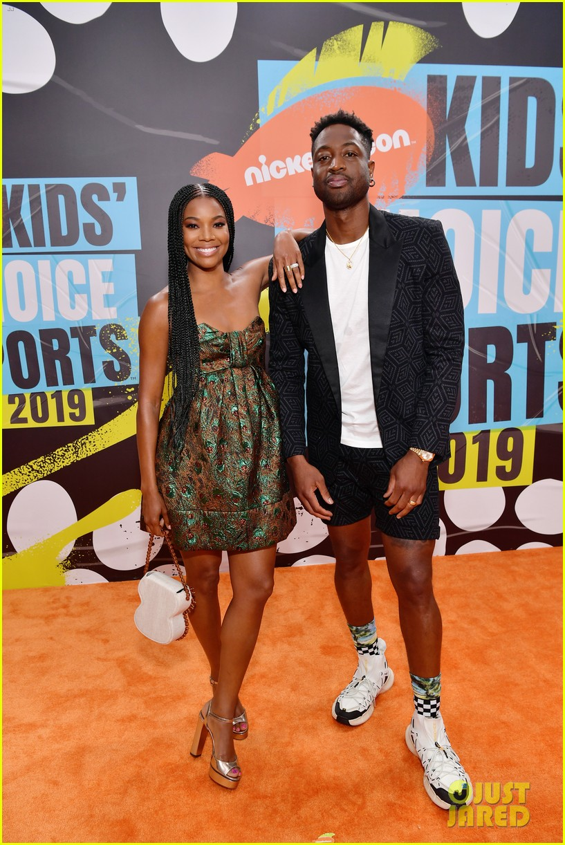 gabrielle union dwyane wade kids choice sports awards kaavia 044320716