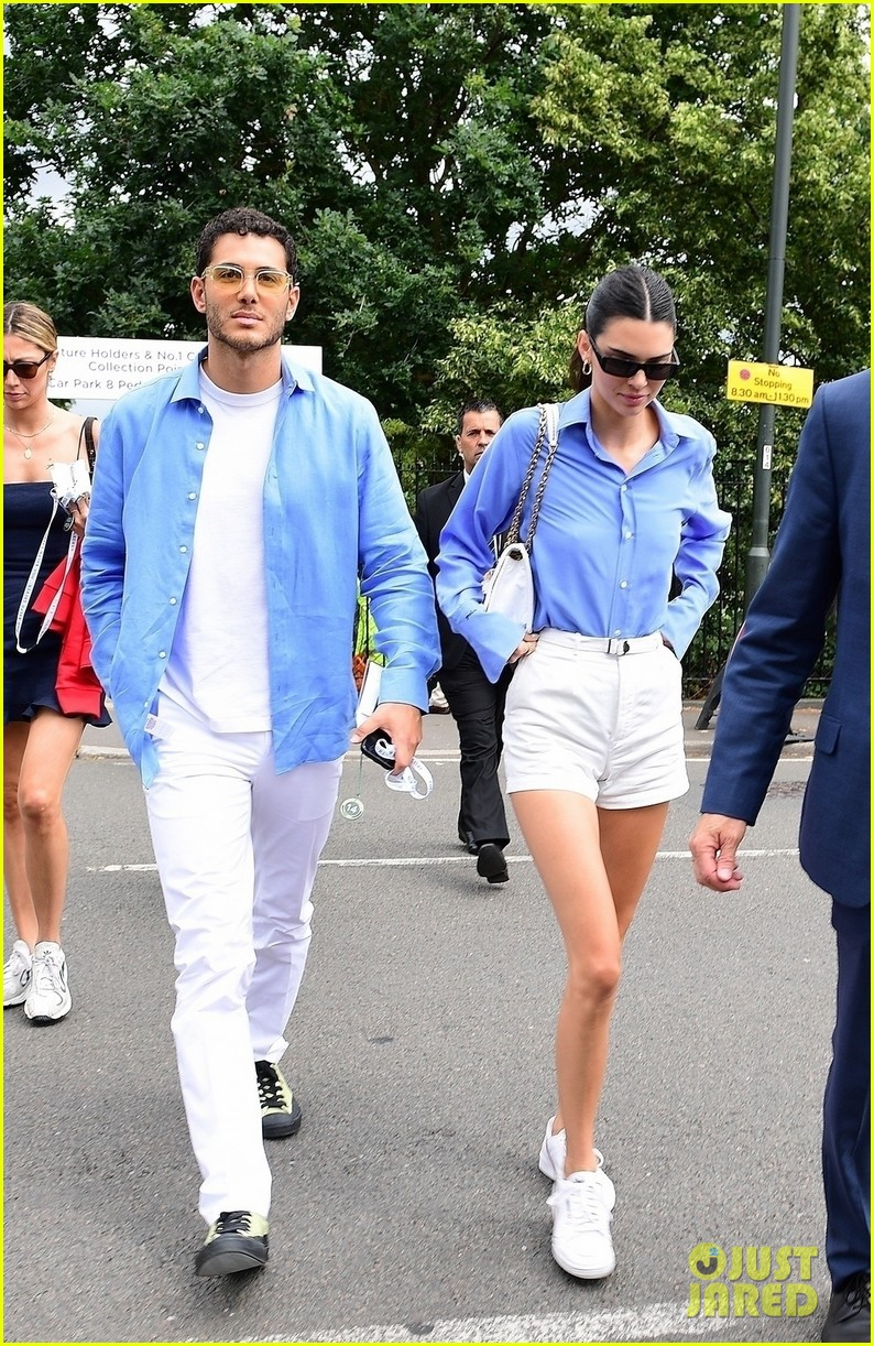 kendall jenner fai kadra wear matching outfits at wimbledon 01