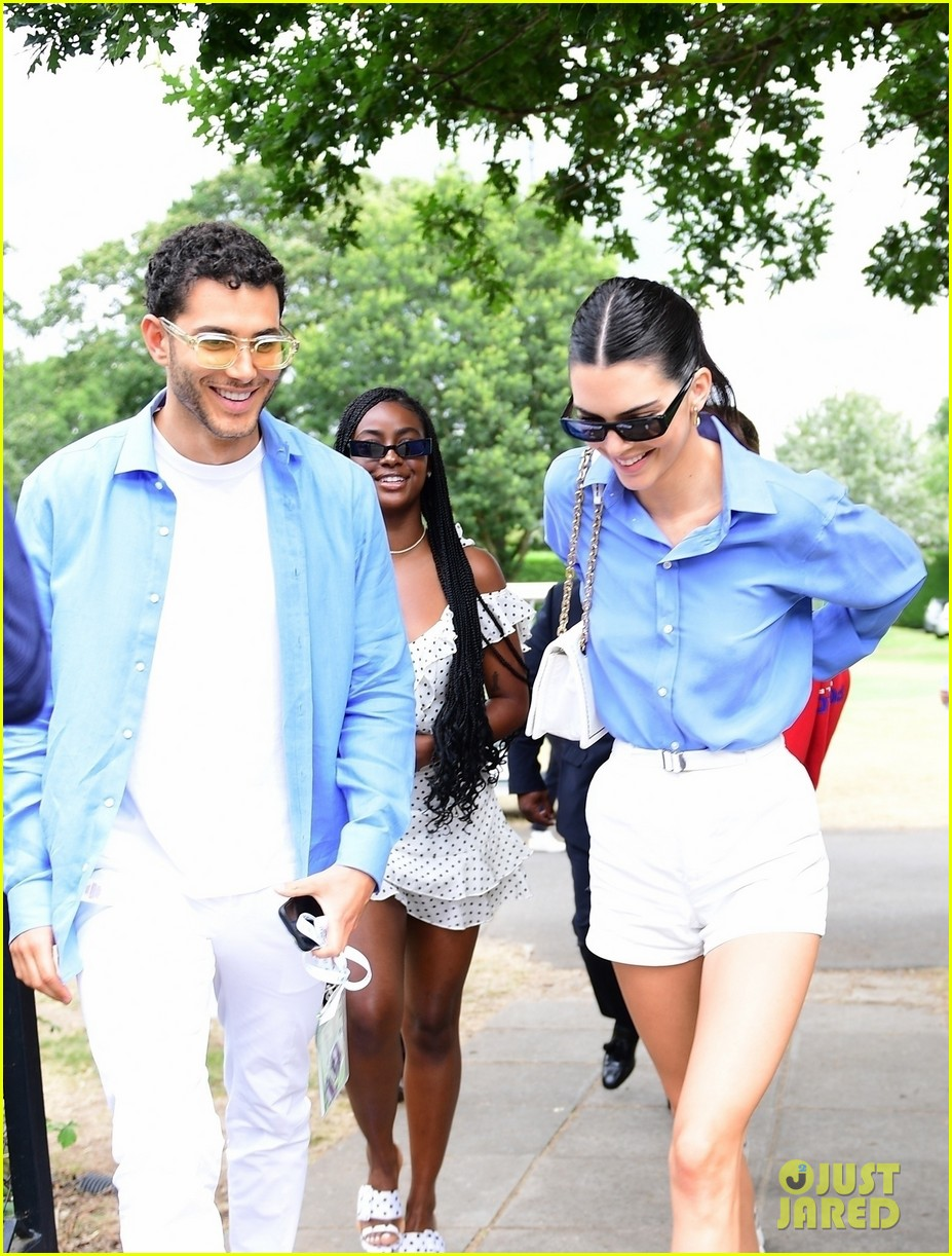 kendall jenner fai kadra wear matching outfits at wimbledon 03
