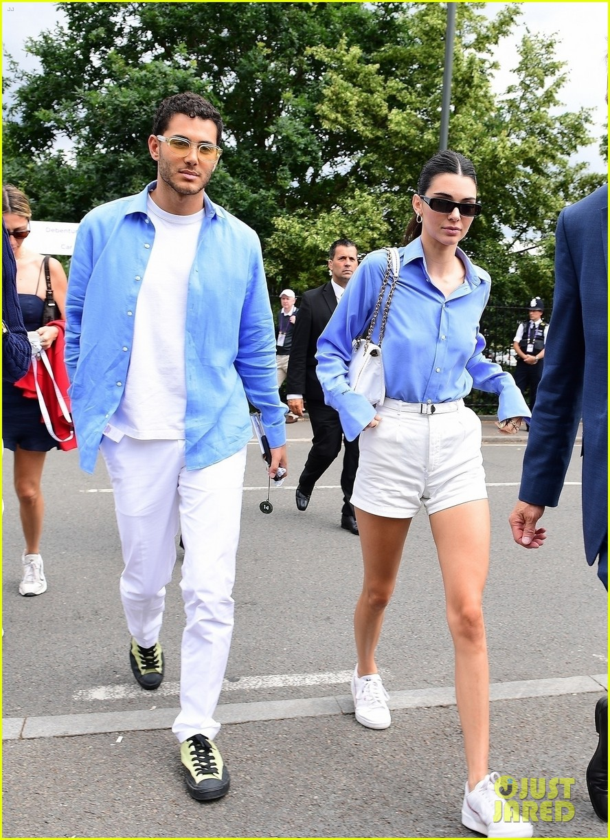 kendall jenner fai kadra wear matching outfits at wimbledon 05