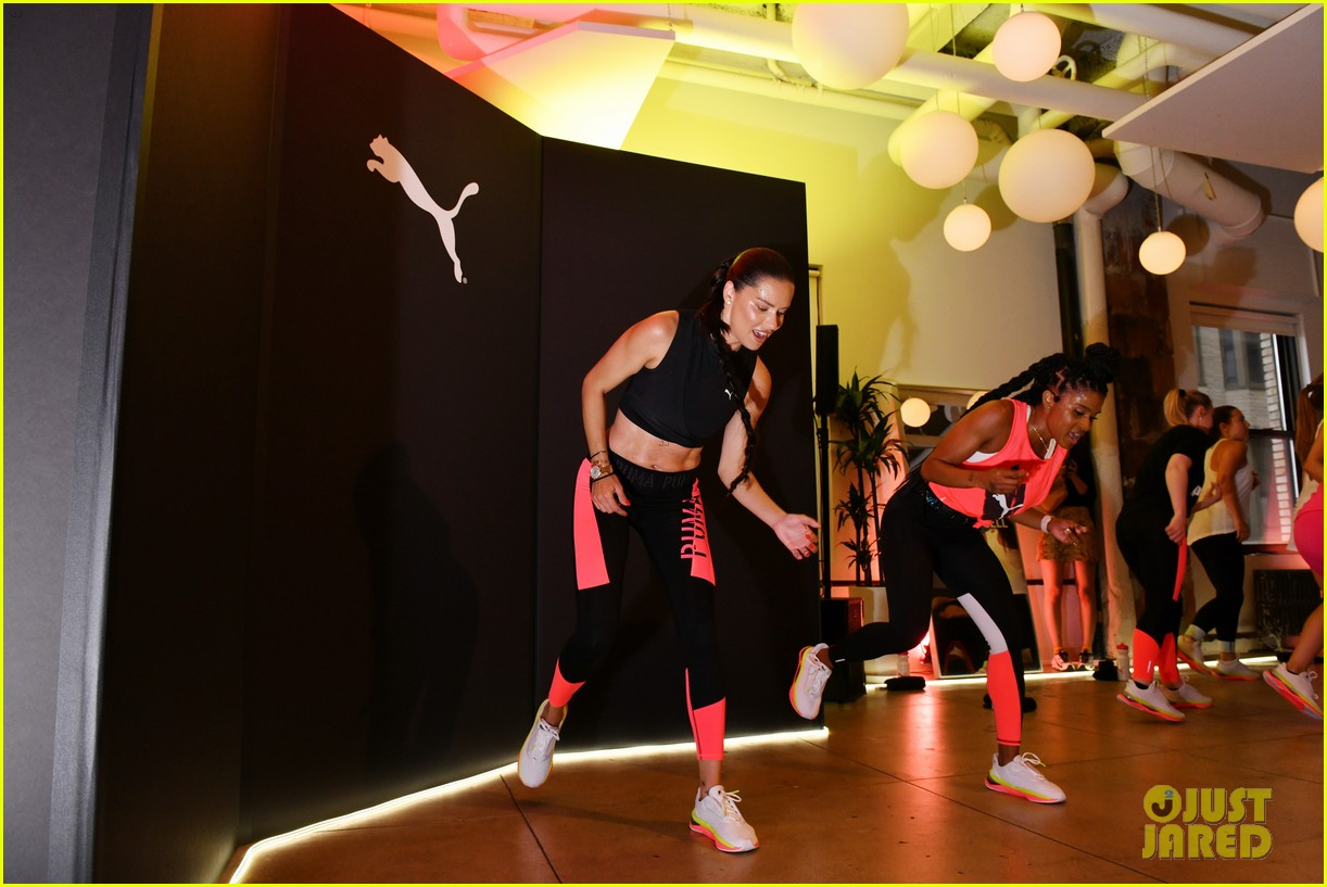 adriana lima works up a sweat at puma launch event 174320897