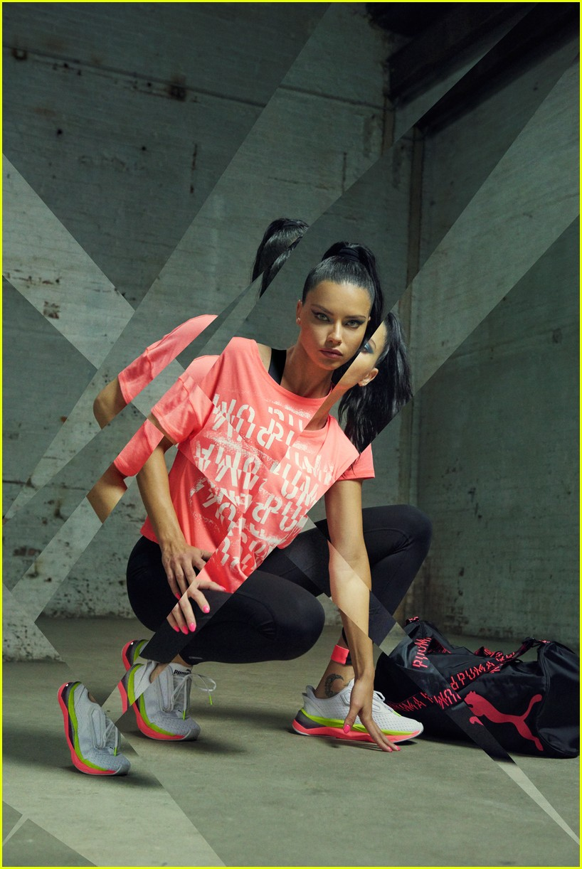 adriana lima models pumas new lqd cell shatter sneakers 064321053