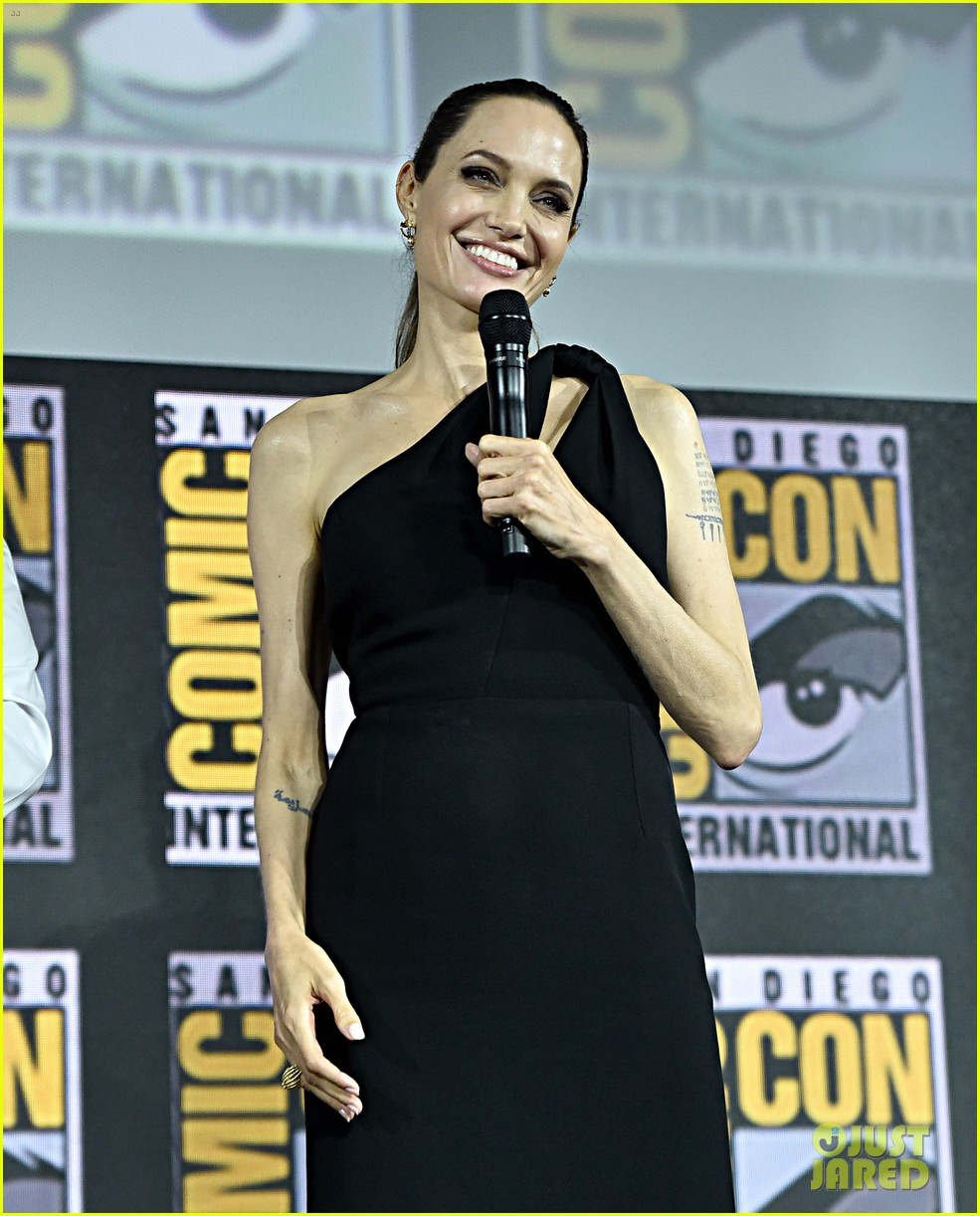 angelina jolie the eternals co stars comic con 13
