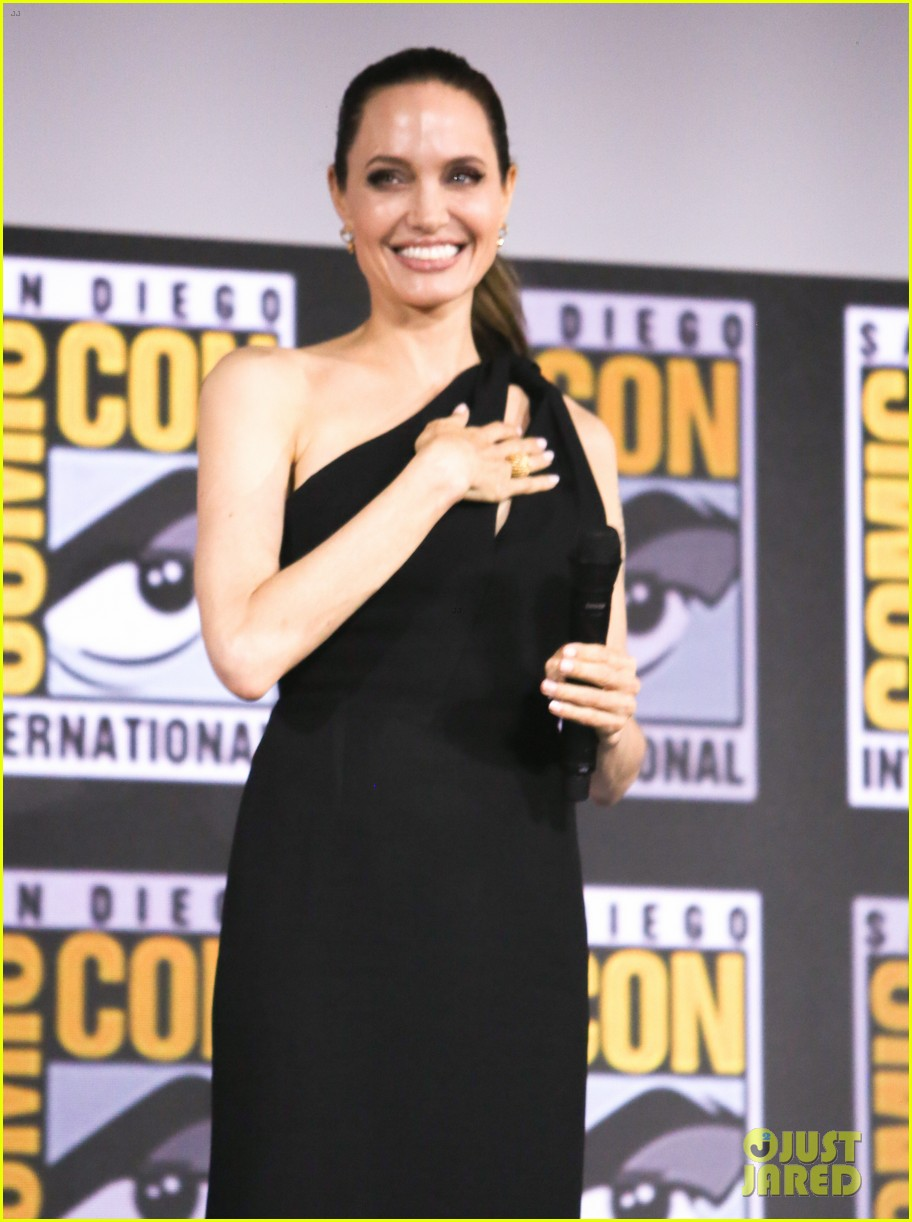 angelina jolie the eternals co stars comic con 15