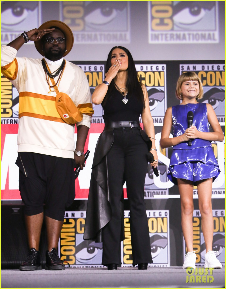 angelina jolie the eternals co stars comic con 17