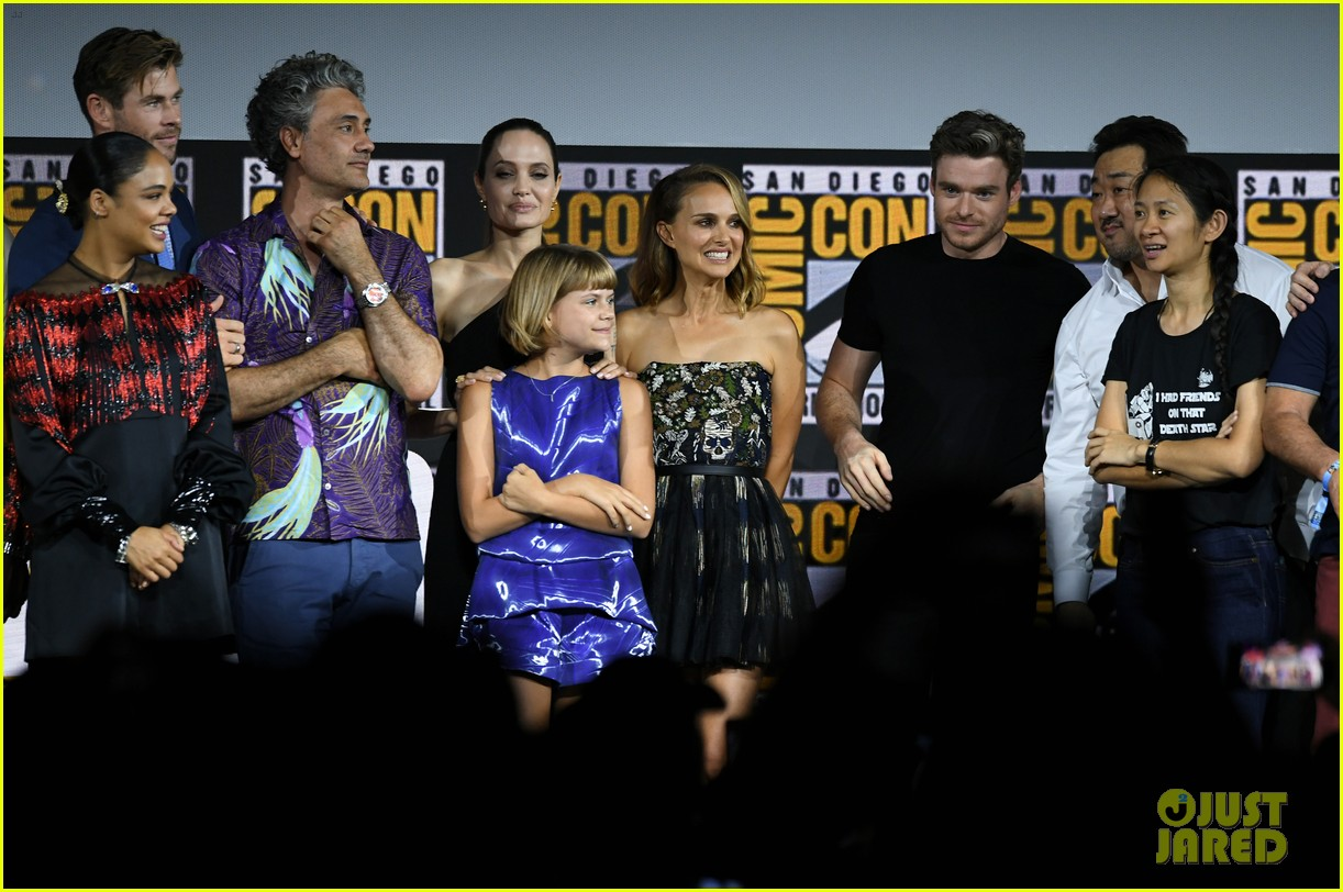 angelina jolie the eternals co stars comic con 20