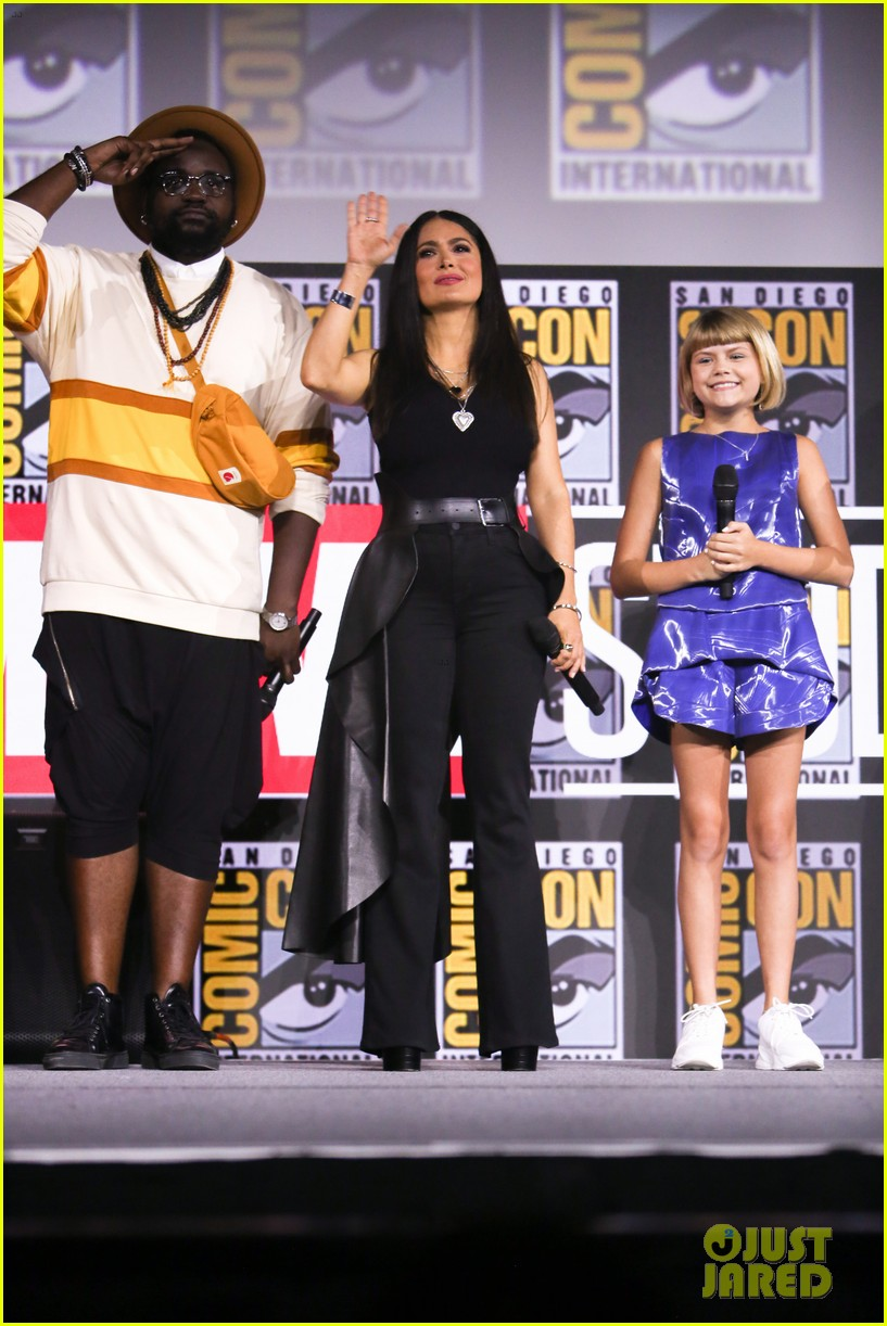 angelina jolie the eternals co stars comic con 21