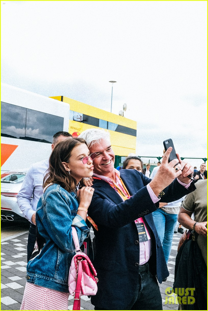 millie bobby brown hangs with spice girls at formula one race 044321810