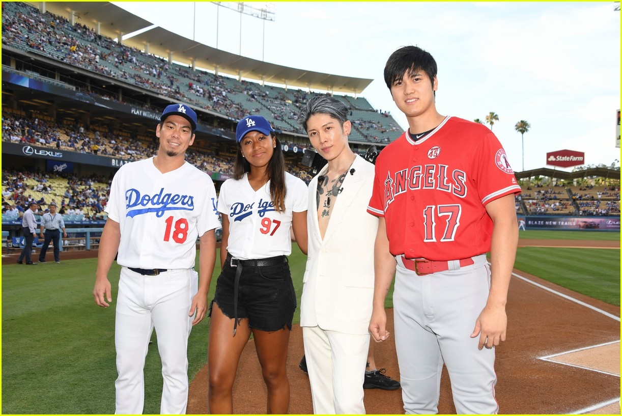 Naomi Osaka Throws Out The First Pitch At Dodger Stadium Photo