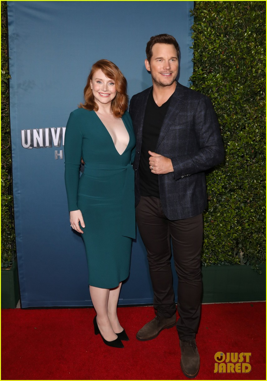 chris pratt bryce dallas howard celebrate jurassic world the ride grand opening celebration 234325758