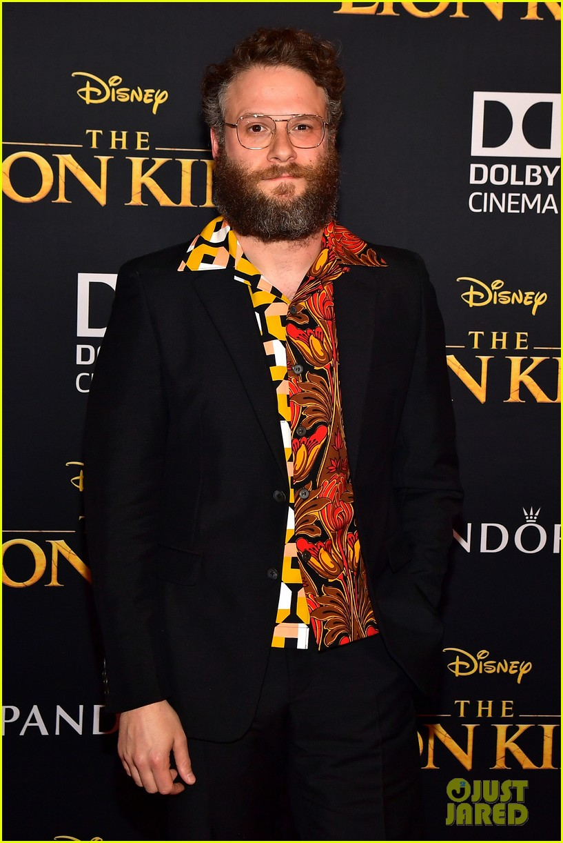 seth rogen billy eichner attend the lion king premiere 024319721