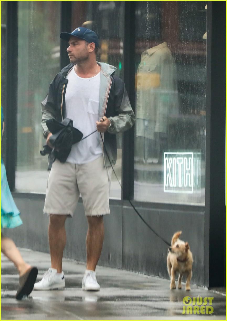 Liev Schreiber & Girlfriend Taylor Neisen Walk Their Dog ...