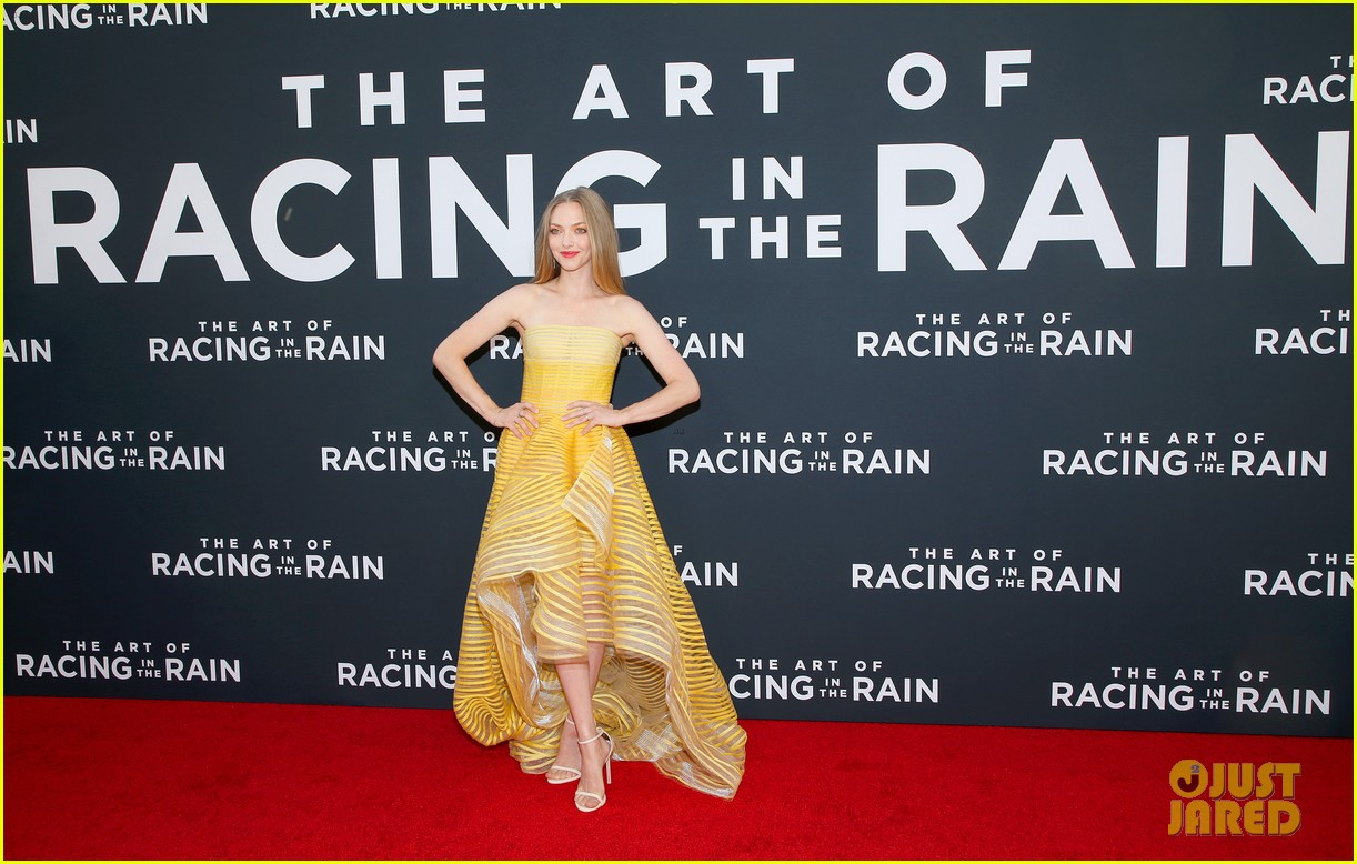 amanda seyfried milo ventimiglia art of racing in the rain premiere 154329857
