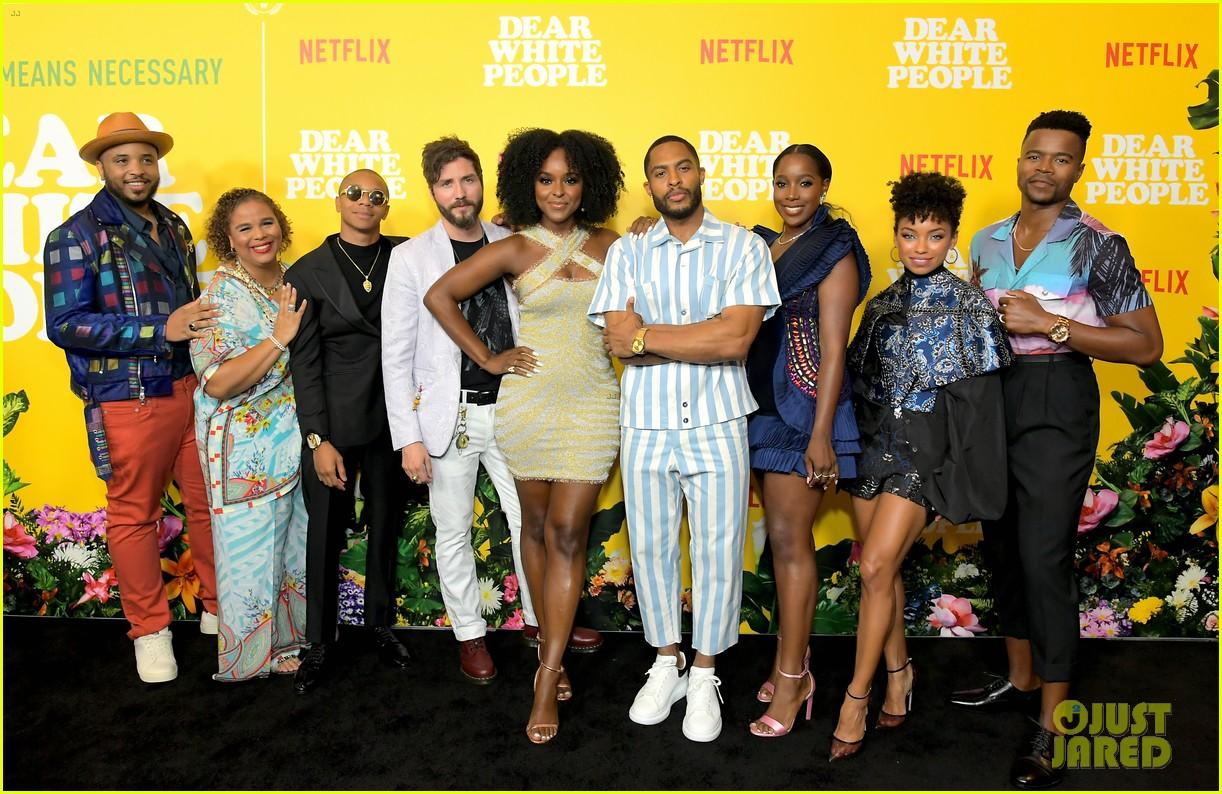 logan browning dear white people cast celebrate season three premiere 054329949