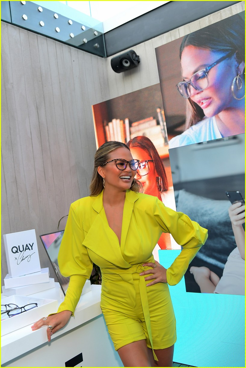 chrissy teigen celebrates new quay collection 11
