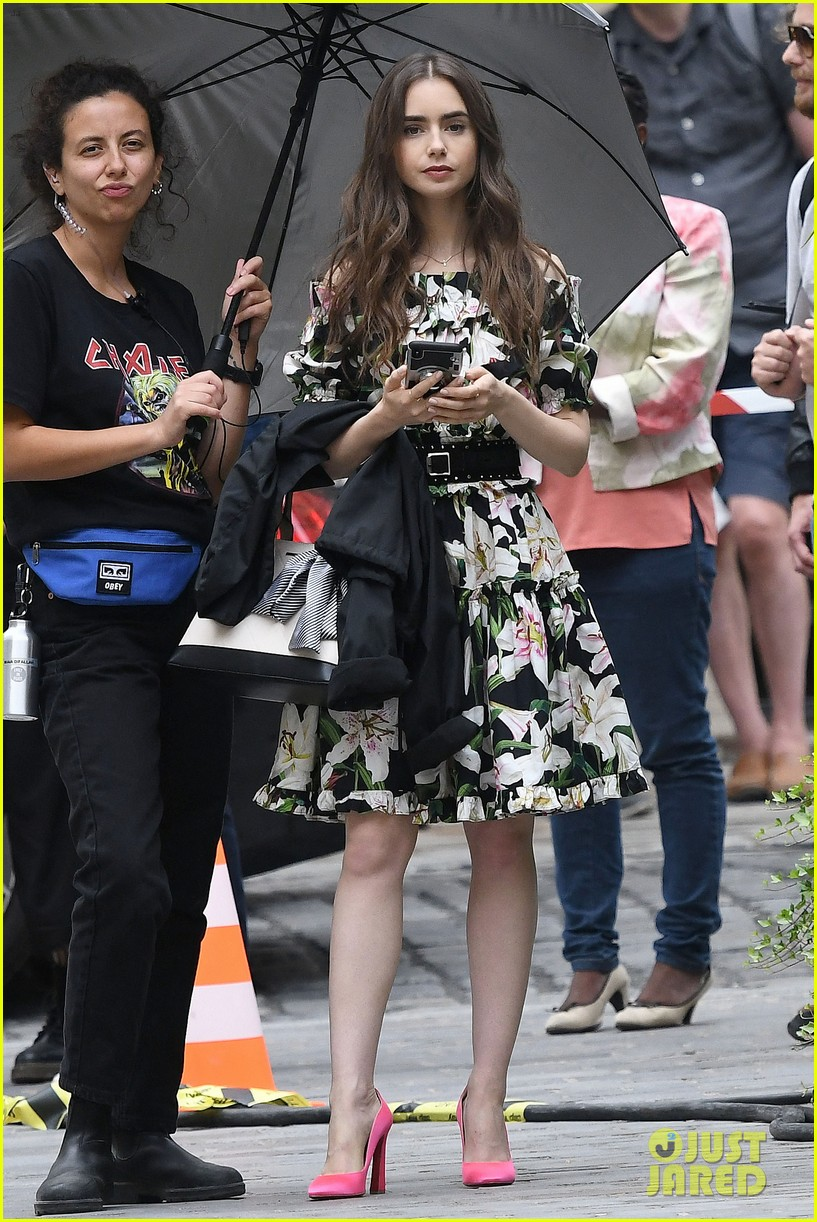 lily collins new looks emily paris filming 054335281