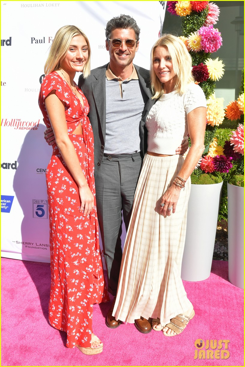 patrick dempsey wife jillian daughter tallulah american cancer society benefit 024337229