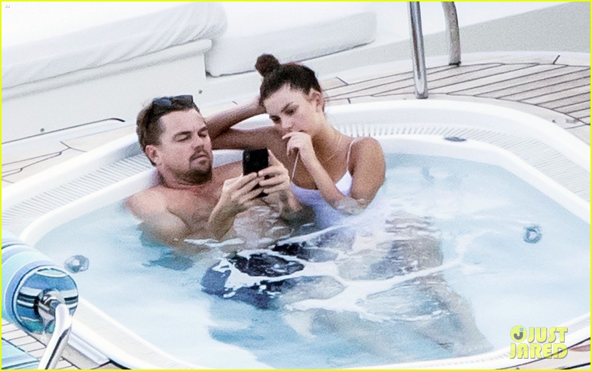 leonardo dicaprio camila morrone hot tub luxury yacht 014332815